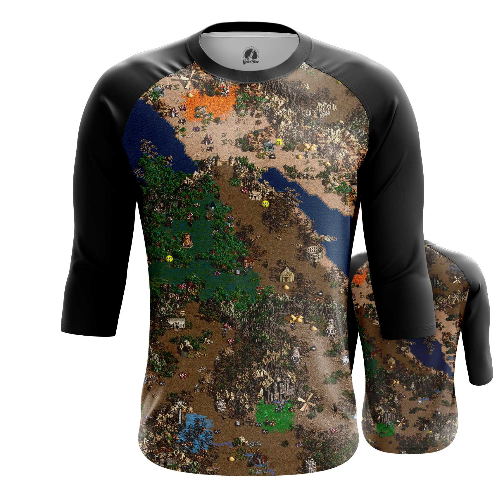 Collectibles Long Sleeve Heroes Of Might And Magic 3 Map World Inspired