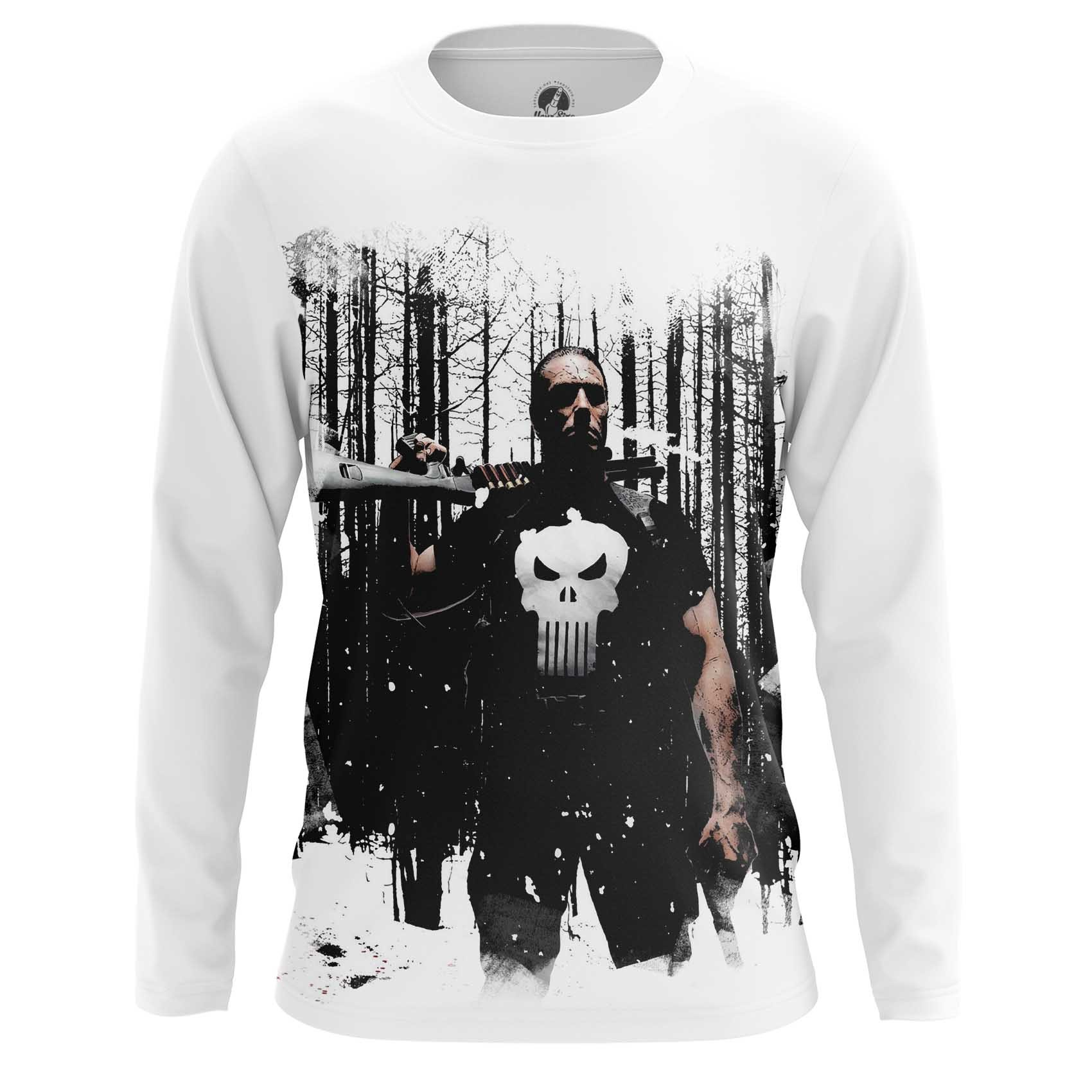 Merch Long Sleeve Punisher Comic Books Version Inspired Clothing