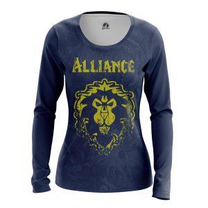 Merch Women'S Long Sleeve Alliance Warcraft Wow Alliance
