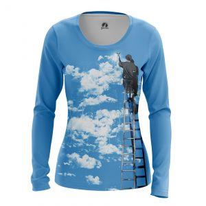 Merch Women'S Long Sleeve Clouds Art Artist Digital