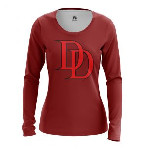 Collectibles Women'S Long Sleeve Daredevil Logo Red