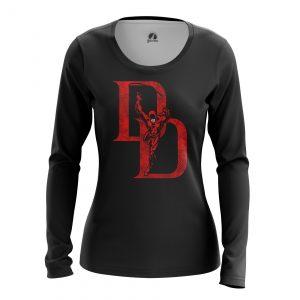 Collectibles Women'S Long Sleeve Daredevil Logo Black