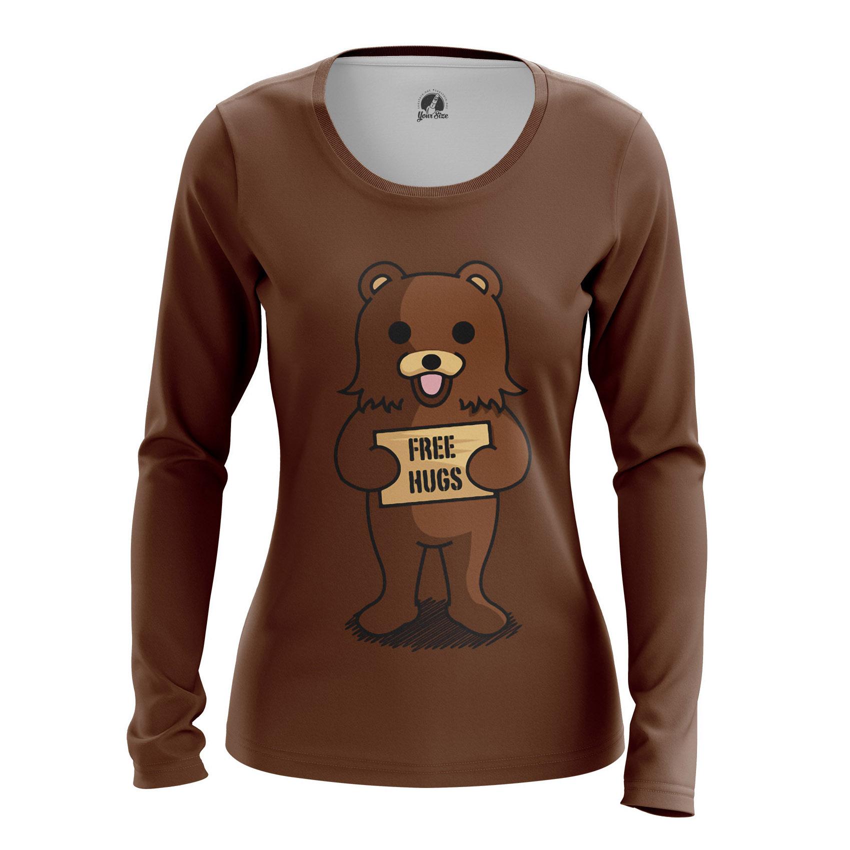 Merchandise Women'S Raglan Free Hugs Pedobear