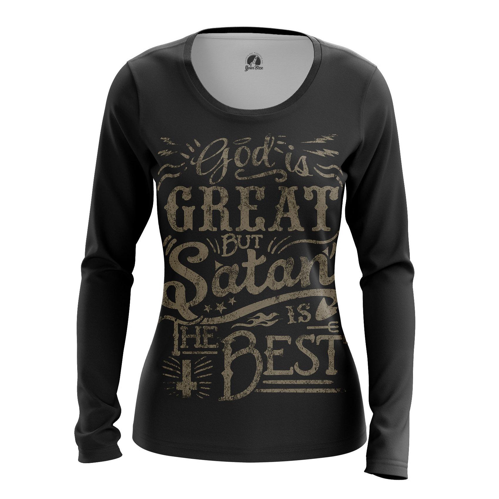 Merchandise Women'S Raglan God Is Great But Satan Best Phrase