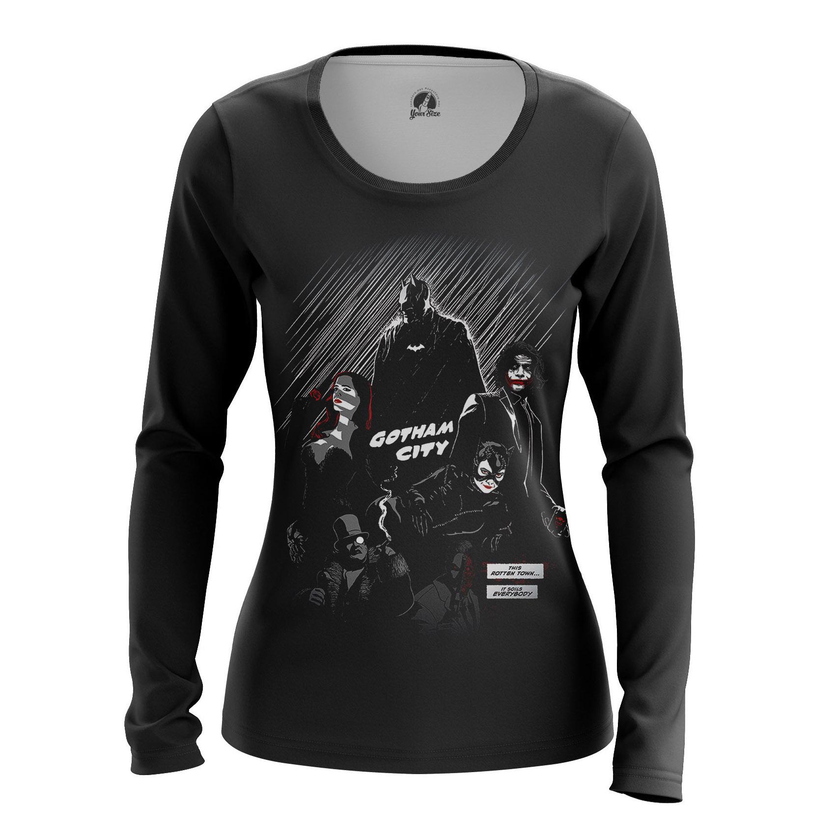 Collectibles Women'S Raglan Gotham City Noir Dc