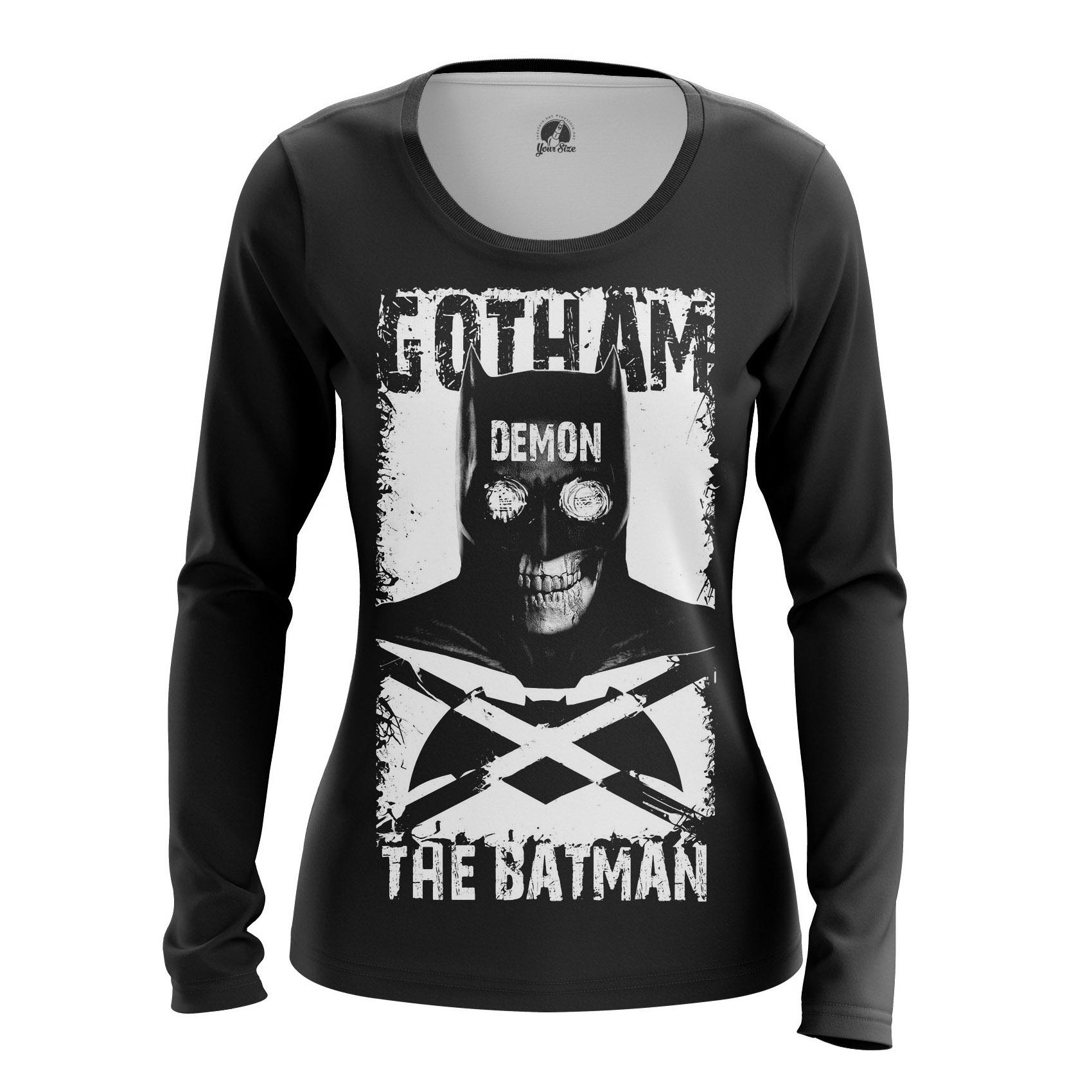 Merch Women'S Raglan Gotham Demon Dc