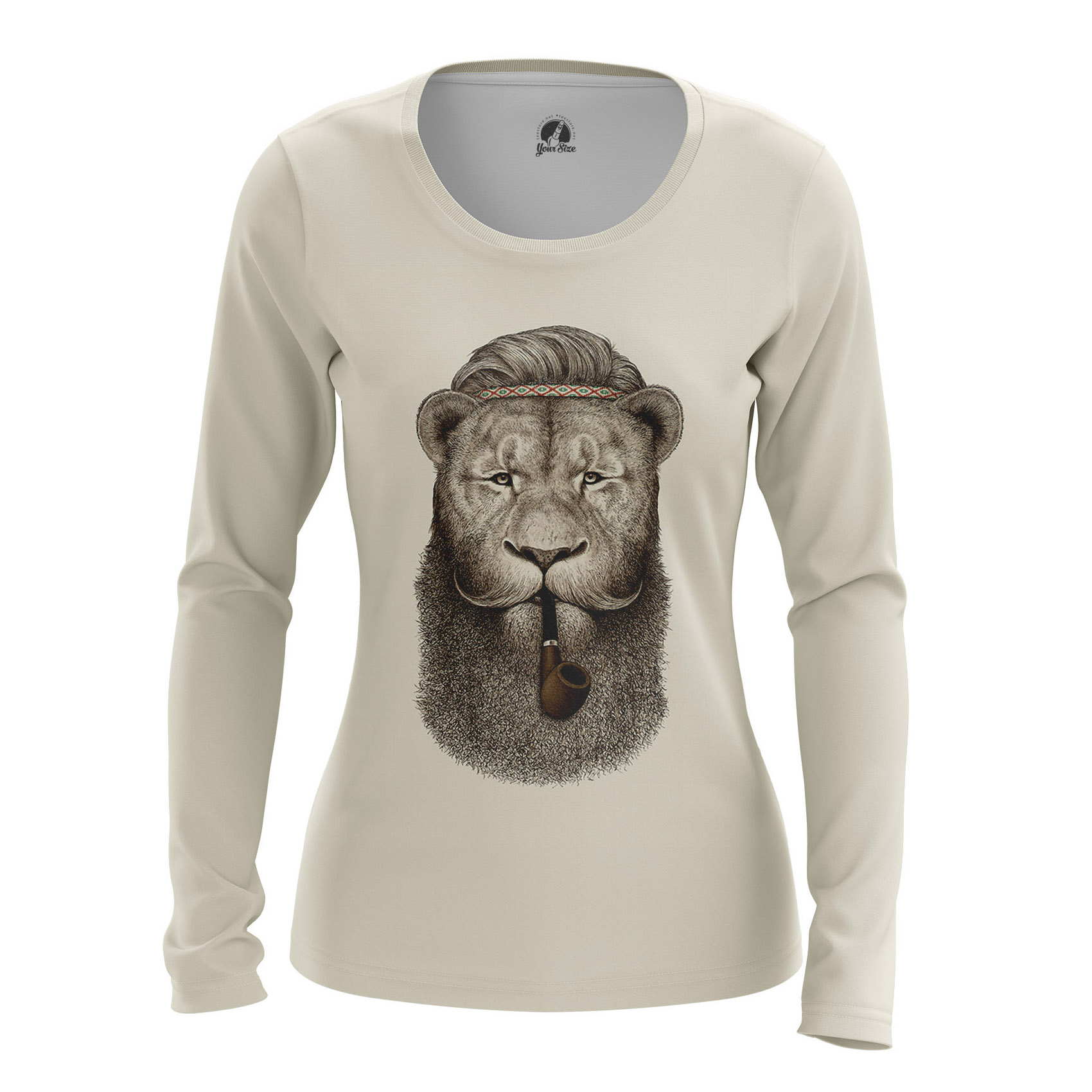 Merchandise Women'S Long Sleeve Hippie Lion Animals Lions Hippie Lion