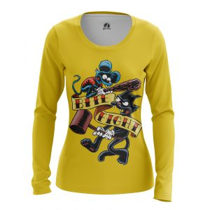 Merchandise Women'S Long Sleeve Itchy And Scratchy Simpsons