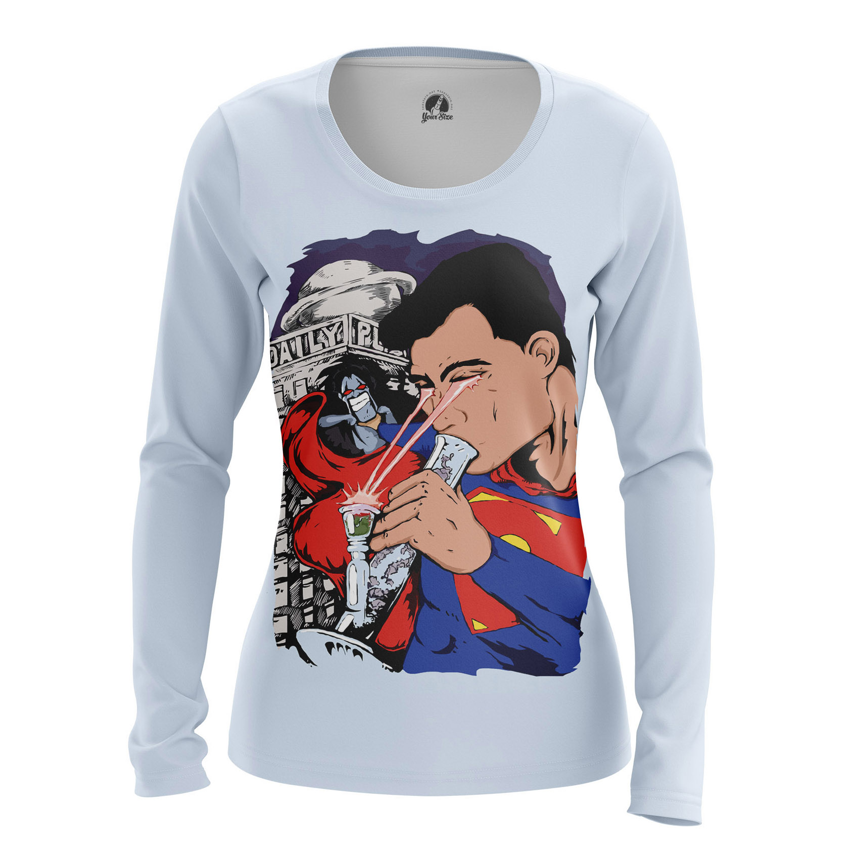 Collectibles Women'S Long Sleeve Junk Man Superman Weed