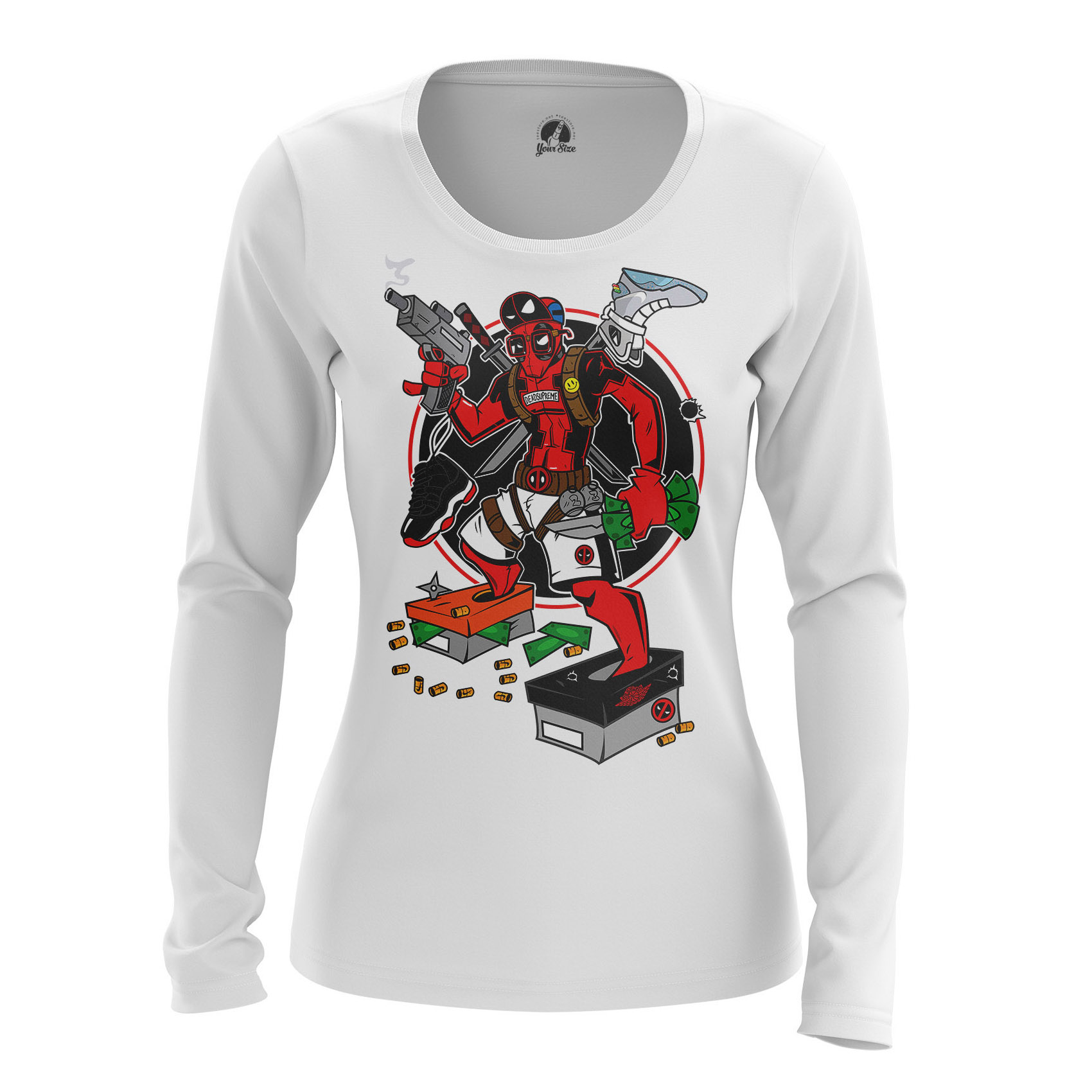 Collectibles Women'S Long Sleeve Just Pool It Deadpool