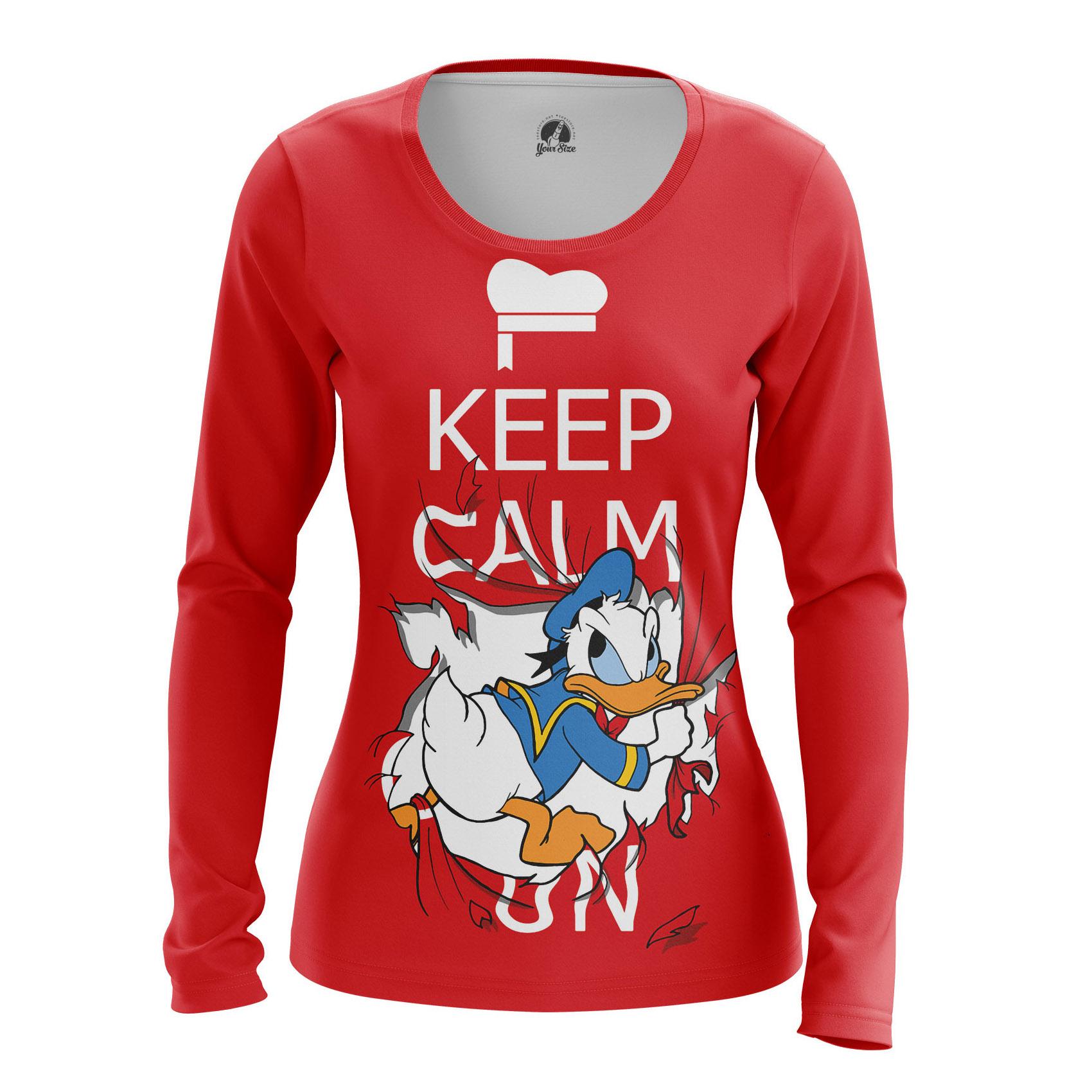 Collectibles Women'S Long Sleeve Keep Calm Donald Duck