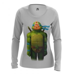 Merchandise Women'S Long Sleeve Leo Tmnt Ninja Turtles Pizza