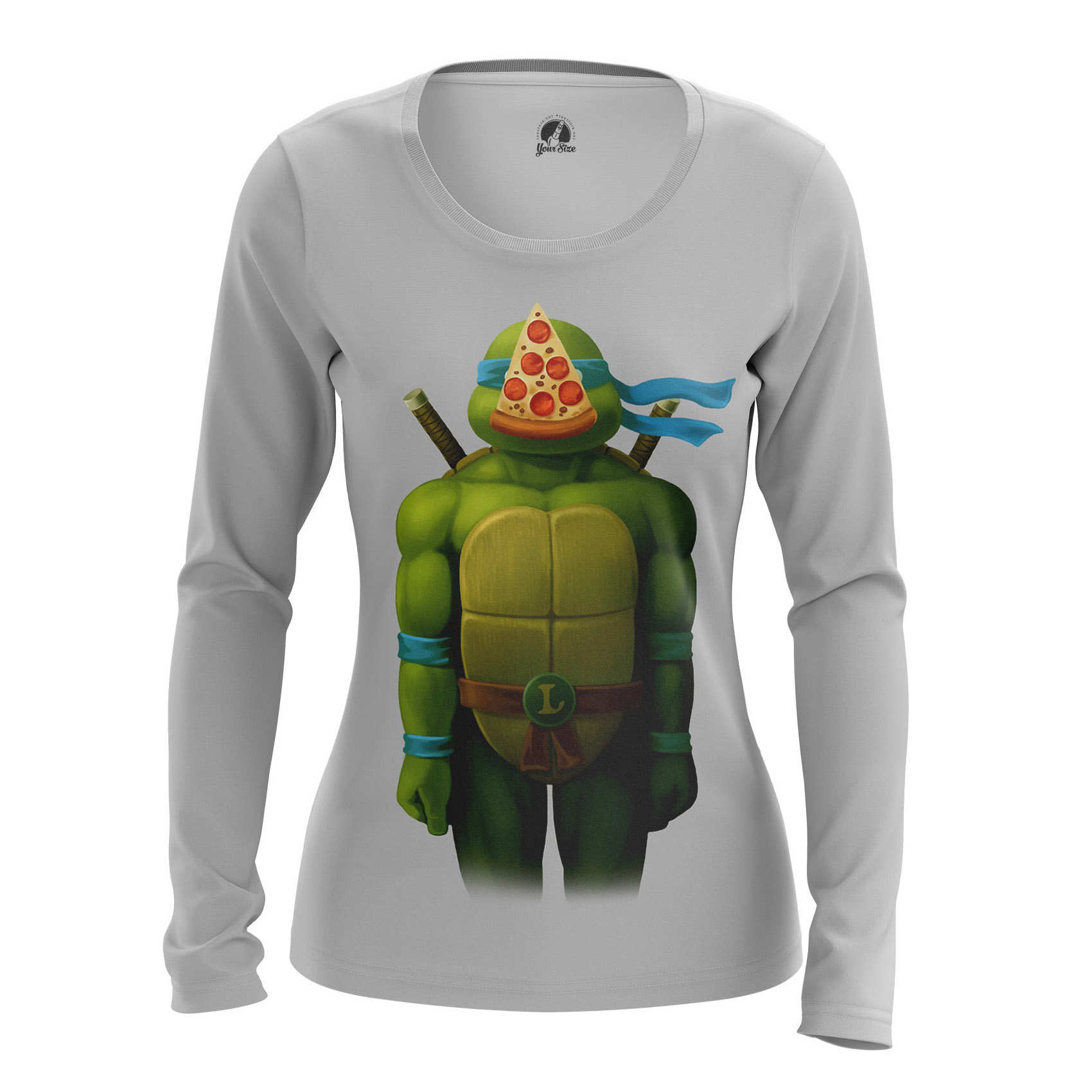 Collectibles Women'S Long Sleeve Leo Tmnt Ninja Turtles Pizza