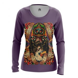Merchandise Women'S Long Sleeve Live Fast Tattoo Print Clothes Pattern