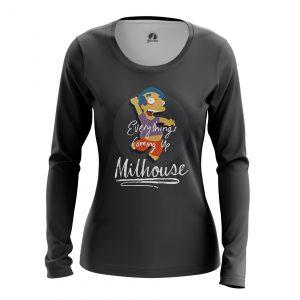 Merchandise Women'S Long Sleeve Milhouse Simpsons Milhouse