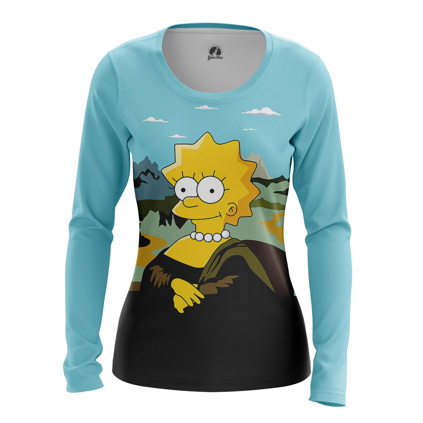 Collectibles Women'S Long Sleeve Mona Lisa Simpsons