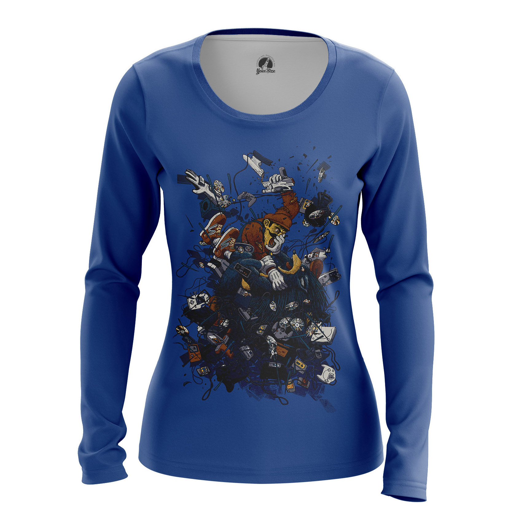 Collectibles Women'S Long Sleeve Nintendo Brawl Classic Old Games