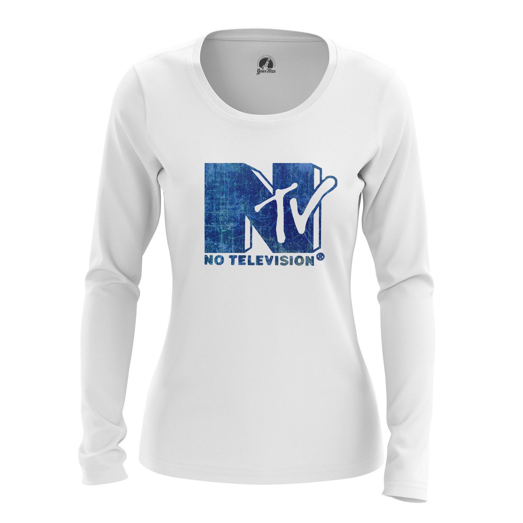 Collectibles Women'S Long Sleeve Ntv Mtv No Televison Clothes