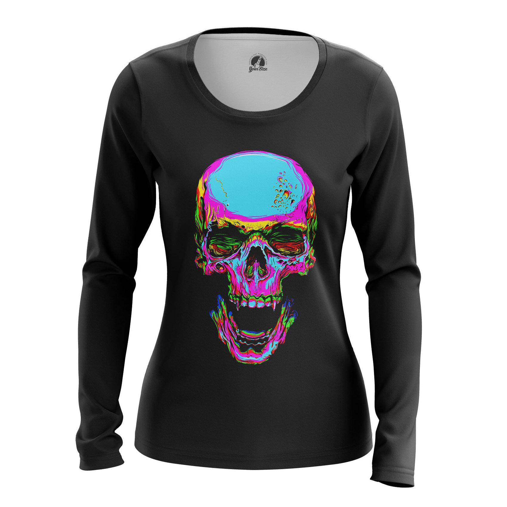 Merchandise Women'S Raglan Rainbow Skull Skulls Skeletons