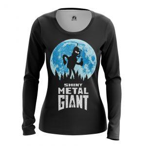 Collectibles Women'S Long Sleeve Shiny Metal Giant Futurama