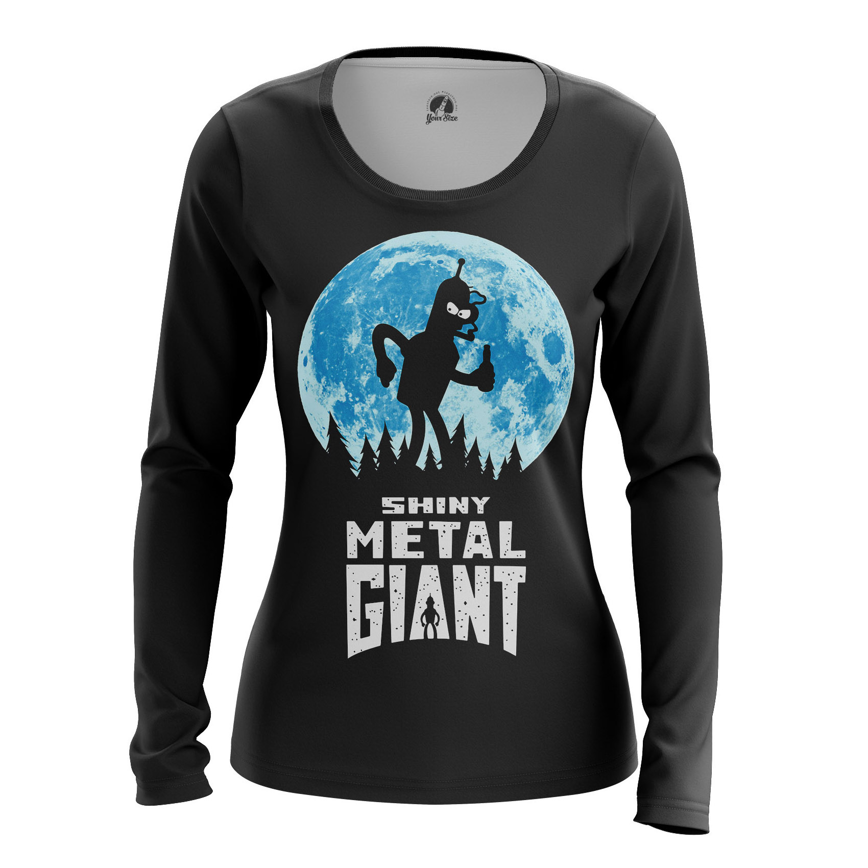 Collectibles Women'S Raglan Shiny Metal Giant Futurama