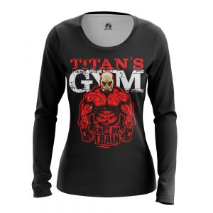Collectibles Women'S Long Sleeve Shut Up And Train Attack On Titan
