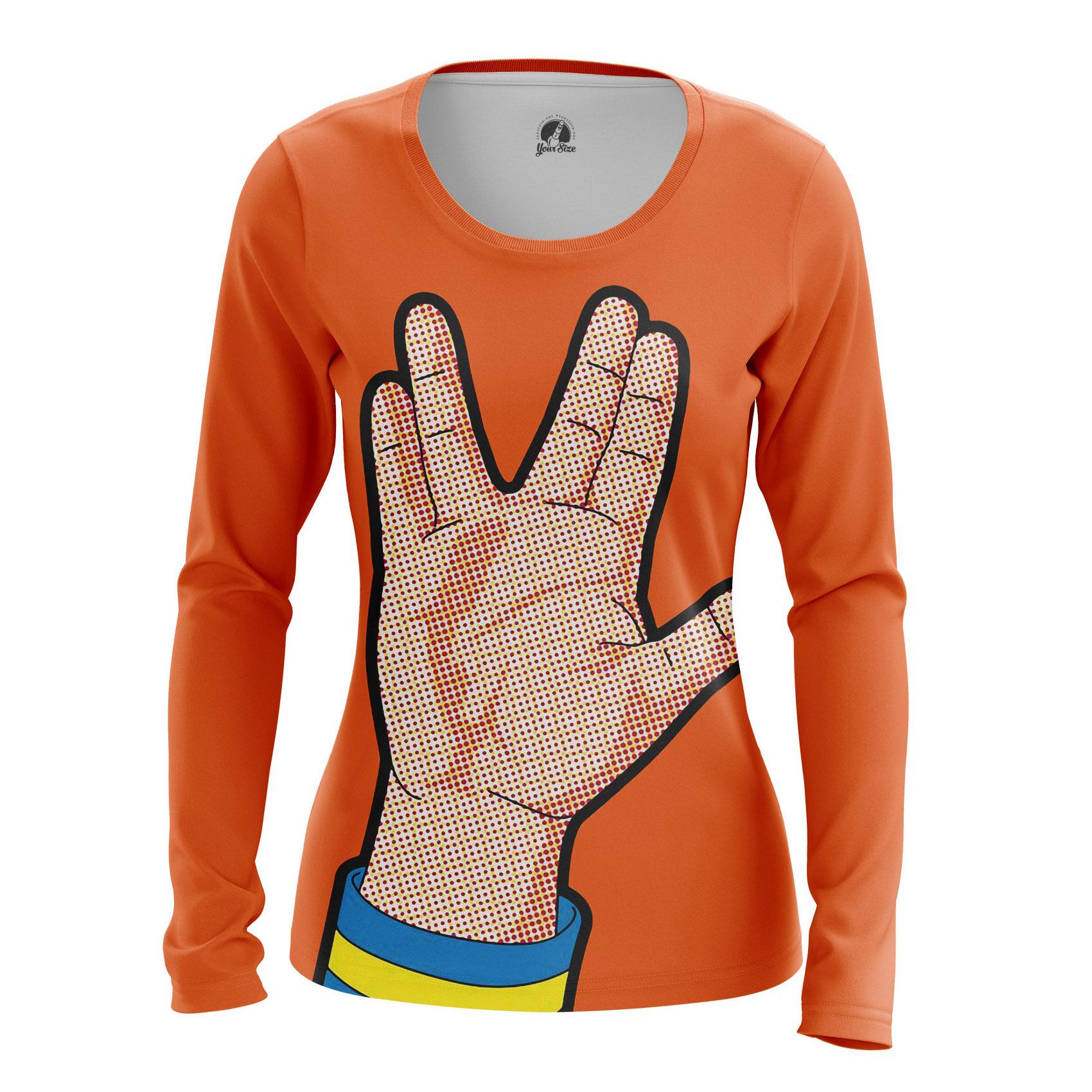 Merch Women'S Raglan Spok Star Trek Live Long Prosper Pop Art