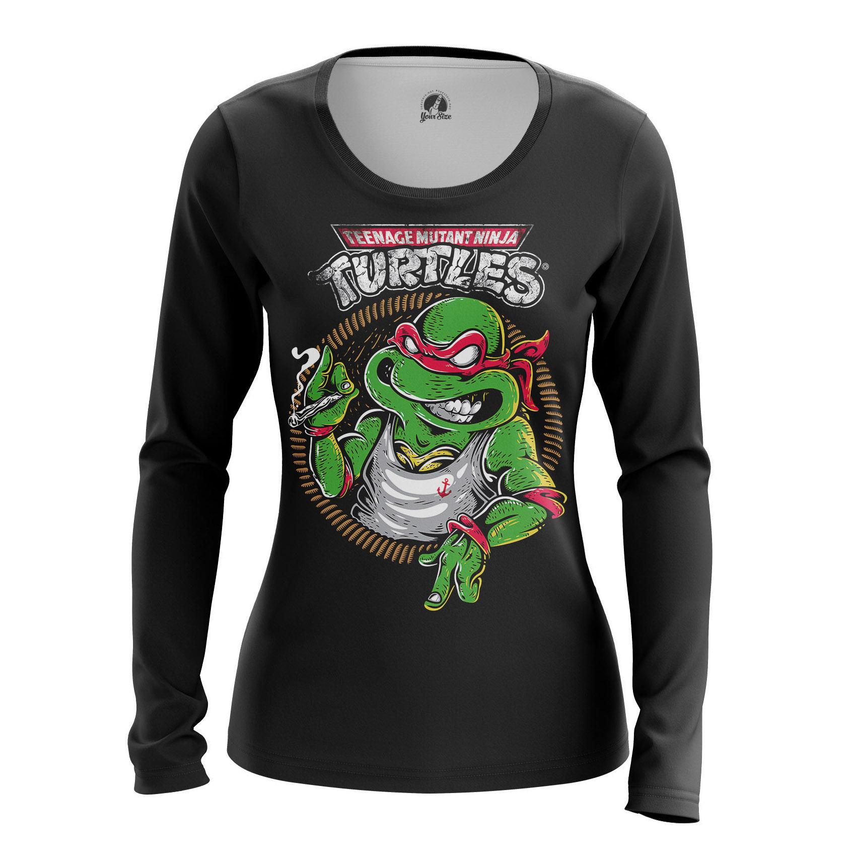 Merchandise Women'S Raglan Teenaged Tmnt Ninja Turtles Animated