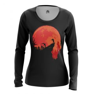 Merch Women'S Long Sleeve Hunt Zombie Red Moon