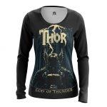 Merch - Women'S Long Sleeve Thor God Of Thunder Web Art