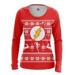 Merch - Women'S Long Sleeve Christmas Flash Dc Comics
