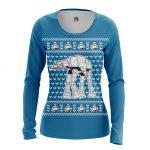 Merchandise - Women'S Long Sleeve Christmas Walker At At Christmas Star Wars