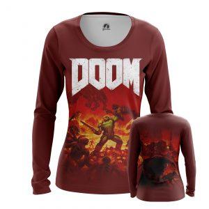 Merch Women'S Long Sleeve Doom Gaming Series Shooter