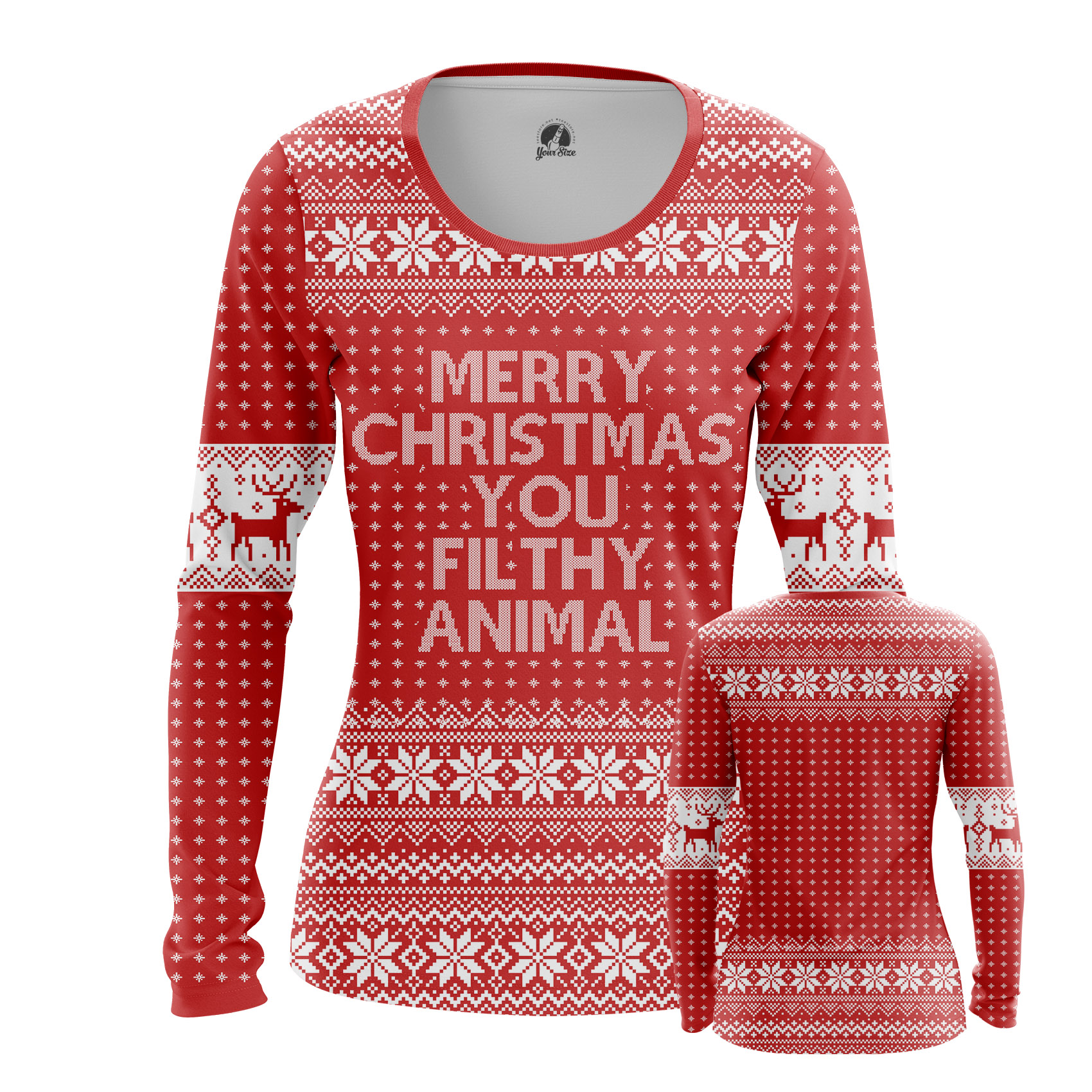 Collectibles Women'S Long Sleeve Merry Christmas Filthy Animal Fun