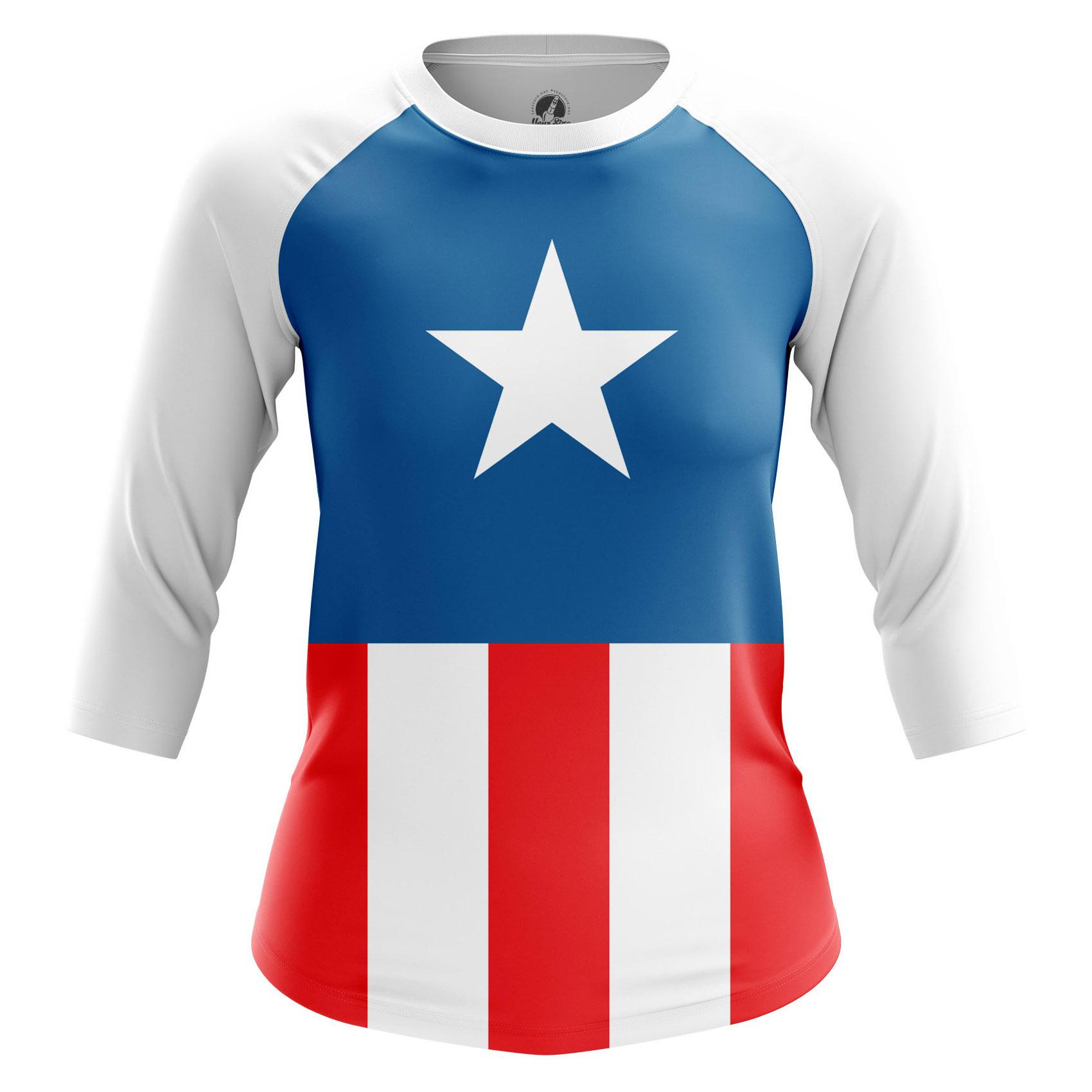 Merch Women'S T-Shirt Cap Suit America
