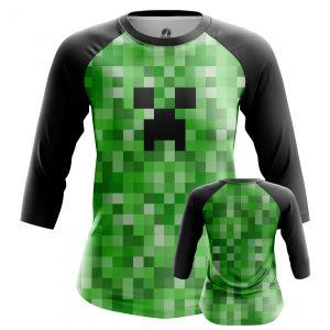 Merchandise Women'S Raglan Creeper Minecraft