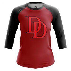 Collectibles Women'S Raglan Daredevil Logo Red
