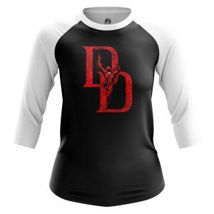Collectibles Women'S Raglan Daredevil Logo Black