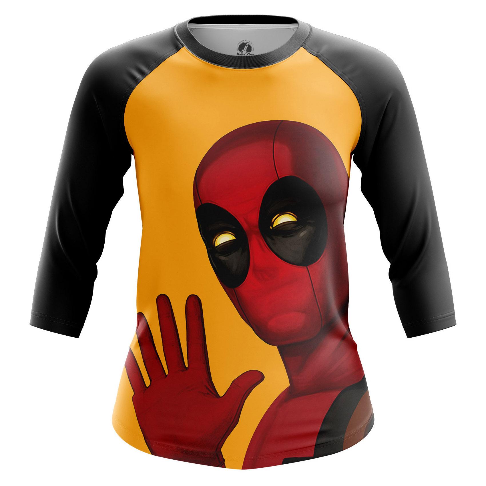 Merchandise Women'S Raglan Deadpool Hello Yellow