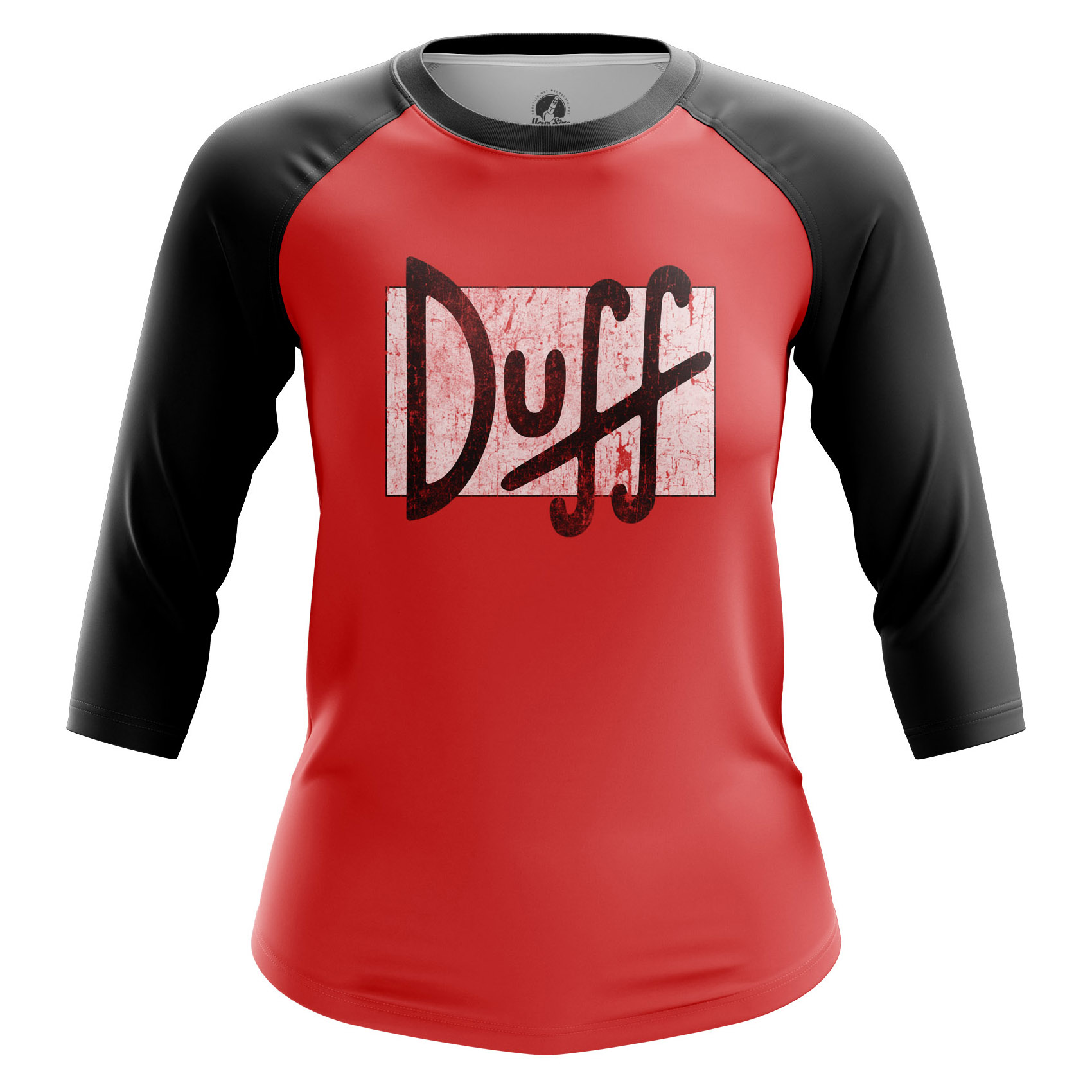 Collectibles Women'S Raglan Duff The Simpsons Red