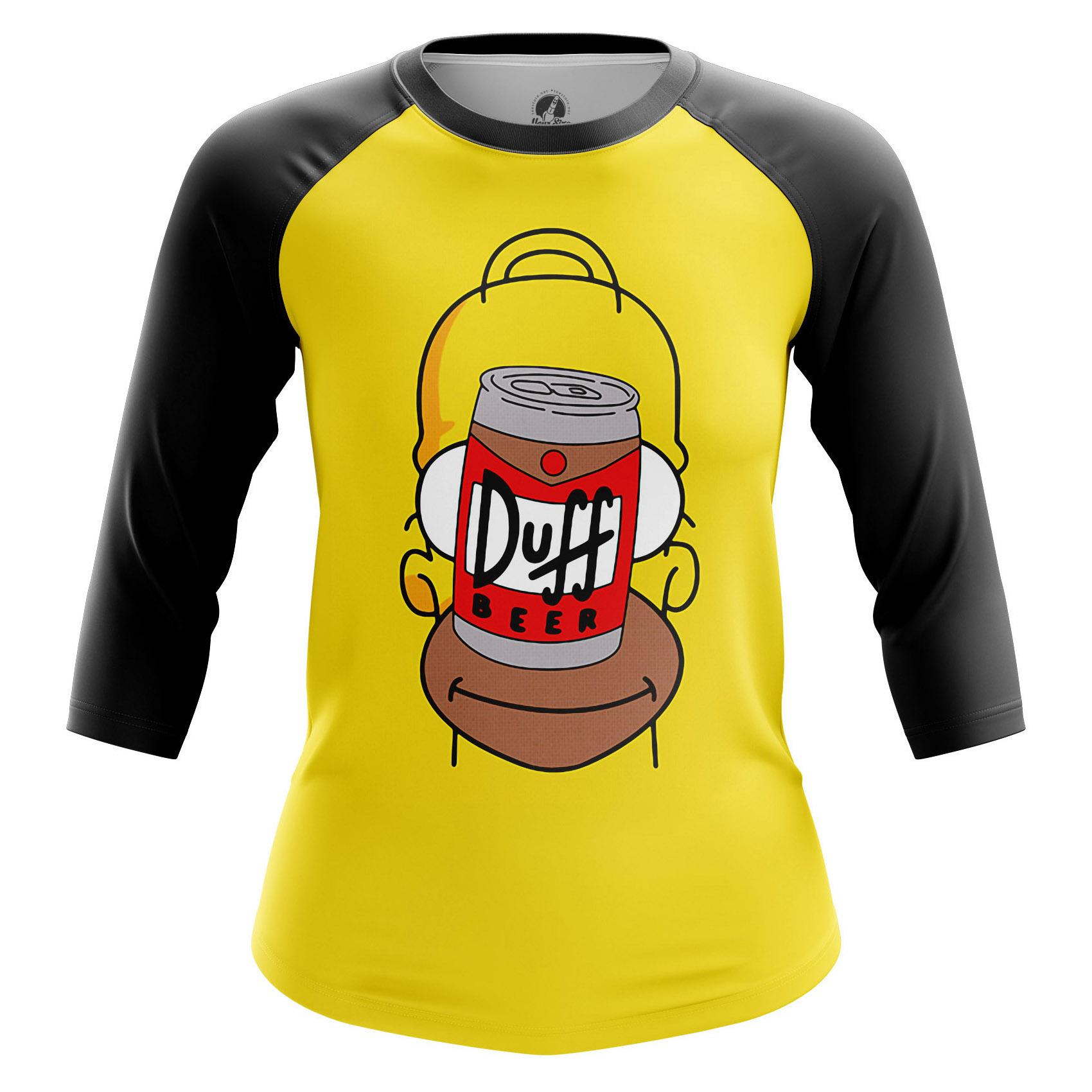 Collectibles Women'S Raglan Duff Face Simpsons