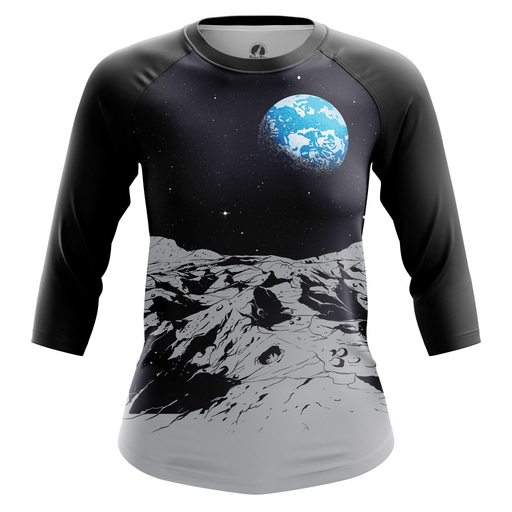 Collectibles Women'S Raglan Earth Space Moon