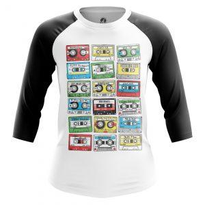 Collectibles Women'S Raglan Eighties Audio Cassette 80S