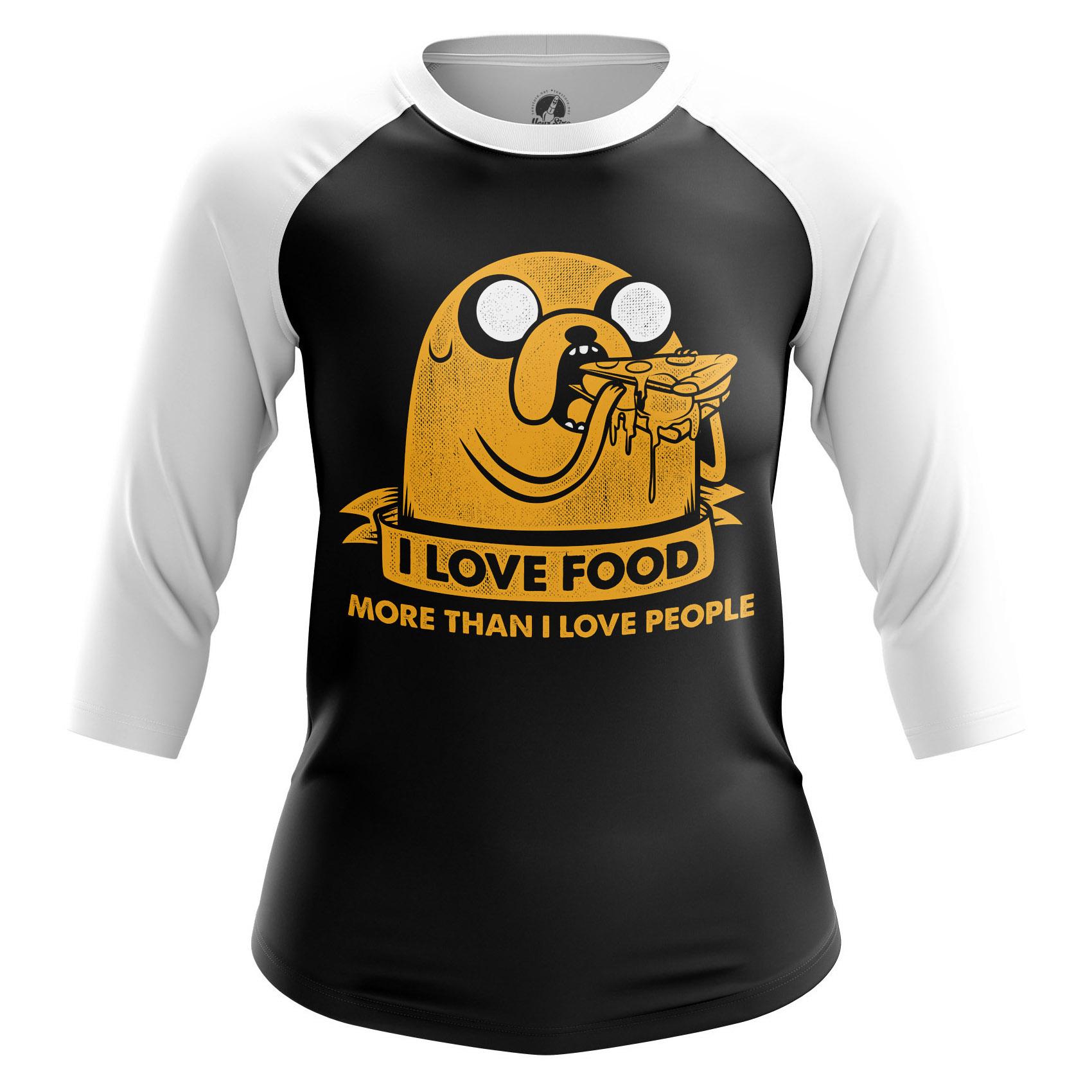 Collectibles Women'S Raglan Food Time Adventure Time Jake Eats
