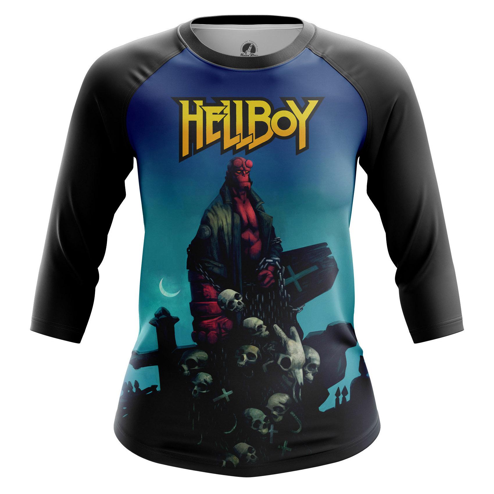 Merchandise Women'S Raglan Hellboy Comics Books