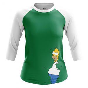 Merchandise Women'S Raglan Homer Simpson Simpsons Bushes Art