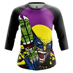 Merchandise Women'S Raglan Hulk Vs Wolverine