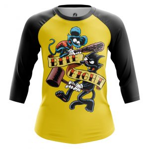 Merchandise Women'S Raglan Itchy And Scratchy Simpsons