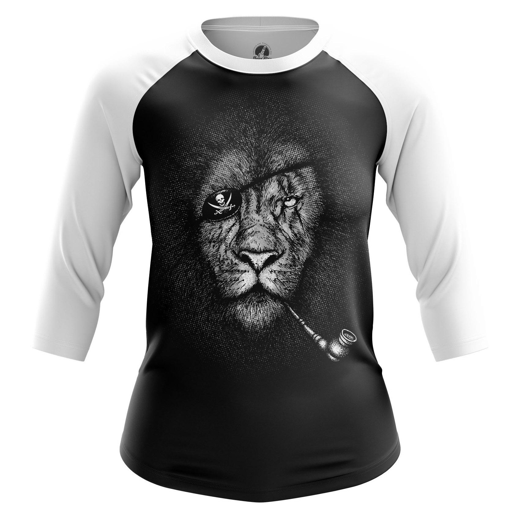 Merchandise Women'S Raglan King Pirate Animals Lions Pirates