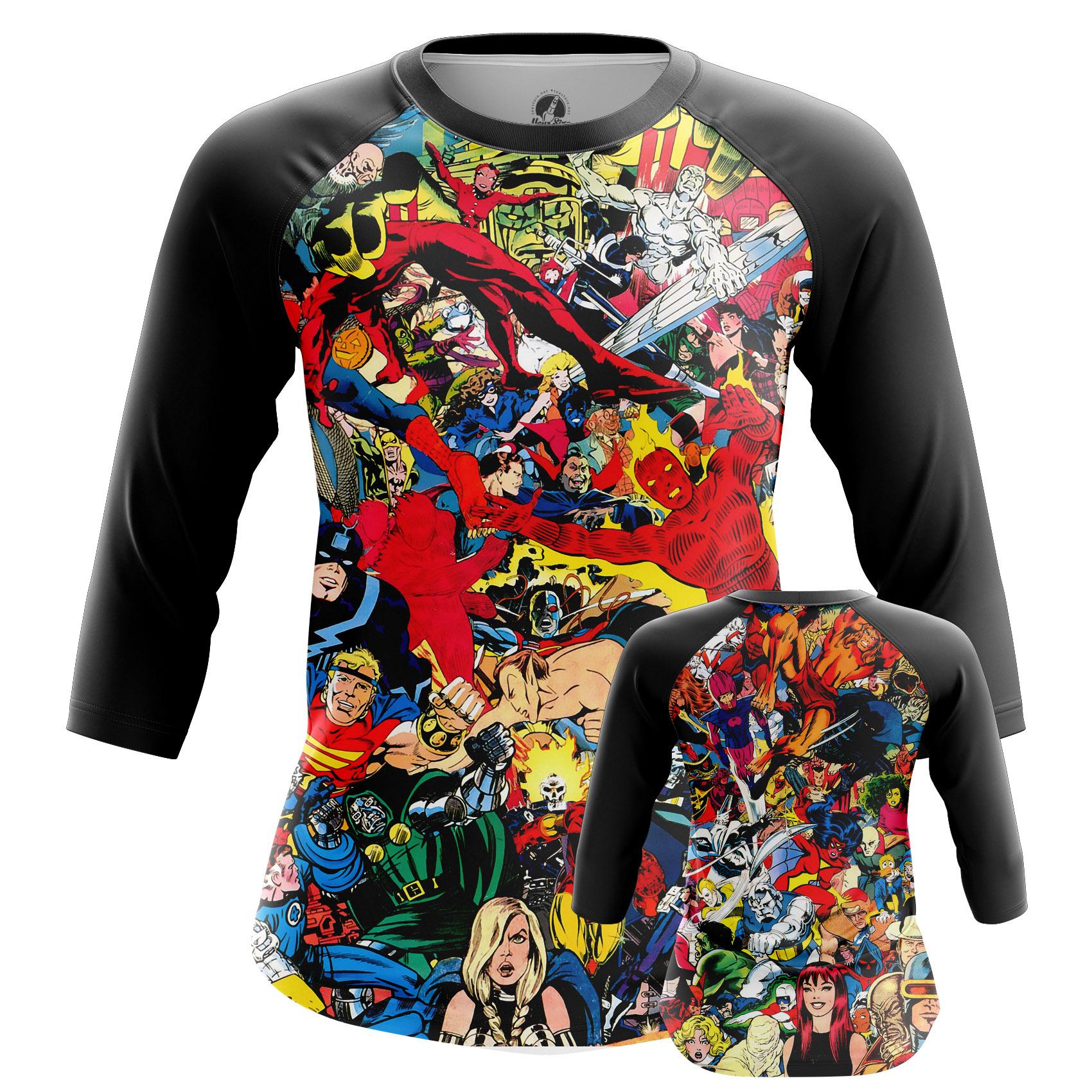 Collectibles Women'S Long Sleeve Marvel World All Superheros